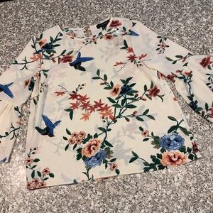 Atmosphere sheer floral top size 8 NWT